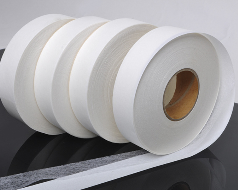 Tapes of nylon net hot melt adhesive with release paper for garment